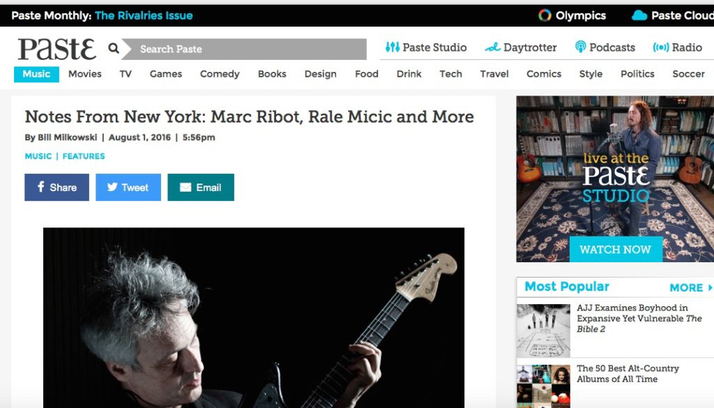 Night Music featured in Paste Magazine